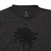 Erkek Palmiye Baskılı Siyah Tişört-3