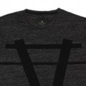 Erkek A Logo Baskılı Siyah Tişört-3