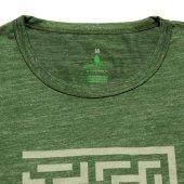 Erkek Labirent Baskılı Yeşil Tişört-3