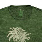 Erkek Palmiye Baskılı Yeşil Tişört-3