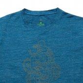 Erkek Yılan Baskılı Mavi Tişört-4