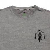 Erkek Moto Baskılı Gri Tişört-5