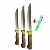 3 Lü Sürmene Bıçak Seti Kurban Bıçak Seti Süper...