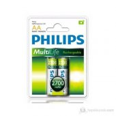 Philips R6B2A270 AA 2700 Mah Şarj Edilebilir 2Li Kalem Pil