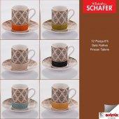 Schafer Satz Kahve Fincan Takımı. 6'lı 12 Parça Asorti