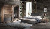 Kazora Ceviz Yatak Odası