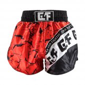 G4F KICK BOXING SHORT G4F MODEL TOTALLY SUBLİMATED BLACK/RED (GF0