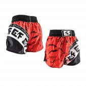 G4F KICK BOXING SHORT G4F MODEL TOTALLY SUBLİMATED BLACK/RED (GF0-2