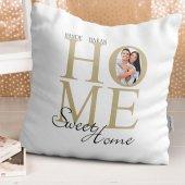 Kişiye Özel Evim Güzel Evim Tasarımlı Beyaz Yastık - 1