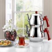 Inter Çelik Çaydanlık Mercan Model Aile Boy Çaydanlık Takımı