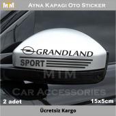 Opel Grandland Ayna Oto Sticker (2 Adet)