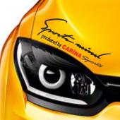 Toyota Carina Sports Mind Far Üstü Oto Sticker