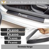 Citroen Picasso Karbon Kapı Eşiği Sticker (4 Adet)