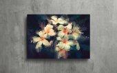 Nergis Çiçeği Yağlı Boya Kanvas Tablo-3