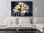 Nergis Çiçeği Yağlı Boya Kanvas Tablo