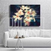 Nergis Çiçeği Yağlı Boya Kanvas Tablo-2