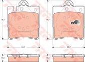 TRW-GDB1421 ARKA FREN BALATASI (MERCEDES  C-CLASS-C240)