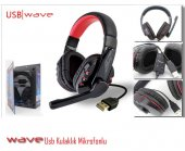 Wave Op338 Siyah 5.1 Channel Kafa Bantlı Mikrofonlu Kulaklık