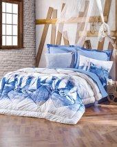 Cotton Box Çift Kişilik Maritime Ranforce Uyku Seti - Pusla Mavi