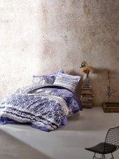 Cotton Box Ranforce Çift Kişilik Nevresim Takımı Lucca Mavi