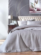 Cotton Box Dıamond Çift Kişilik Yatak Örtüsü Takımı Gri