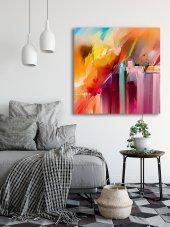 Renkli Soyut Yağlı Boya Kanvas Tablo-2