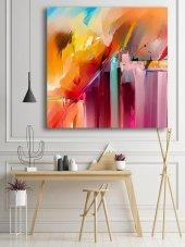 Renkli Soyut Yağlı Boya Kanvas Tablo-3