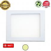 18W Kare Sıva Altı Flat LED Panel Armatür Gün Işığı