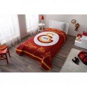 Taç Lisanslı Tek Kişilik Yatak Örtüsü Galatasaray Sarı Kırmızı