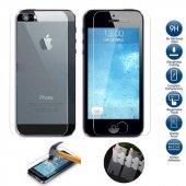 iPhone 5-5s-Se-6-6S-7-8 Plus Ön Arka Kırılmaz Ekran Koruyucu Cam-10