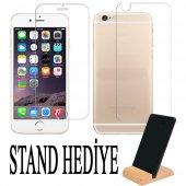 iPhone 5-5s-Se-6-6S-7-8 Plus Ön Arka Kırılmaz Ekran Koruyucu Cam