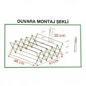 Katlanır Akordiyon Çamaşır Askılığı - Duvara Montaj-5