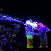 Bubble Gun Pilli LED Işıklı Baloncuk Köpük Tabancası 2 Şişe Köpük-2