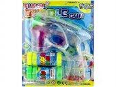 Bubble Gun Pilli LED Işıklı Baloncuk Köpük Tabancası 2 Şişe Köpük-3