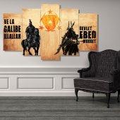 Atlı Savaşçılar 5 Parçalı MDF Tablo