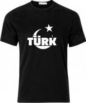 Ay Yıldız İçinde Türk Yazan Tişört