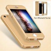iPhone 5 5S Se Kılıf 360 Derece Tam Koruma Full Body-10
