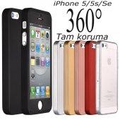 iPhone 5 5S Se Kılıf 360 Derece Tam Koruma Full Body-11