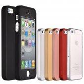 iPhone 5 5S Se Kılıf 360 Derece Tam Koruma Full Body-12