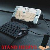 Araç İçi Telefon Tutucu Standı Şarj Kablolu...