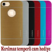 Iphone 4 4s Kılıf Motomo Renkli Kırılmaz Cam
