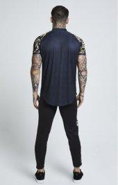 Siksilk Venetian Beyzbol T-Shirt-  Gold Black-4