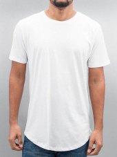 Oval Kesim Salaş Düz Beyaz Erkek Tişört