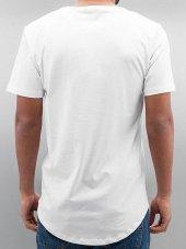 Oval Kesim Salaş Düz Beyaz Erkek Tişört-3