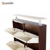 Prado Ahşap Raflı 4lü Yatay Metal Ayakkabılık-8