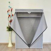 Prado Basic Portatif Raflı Çelik Profilli Bez Dolap -2