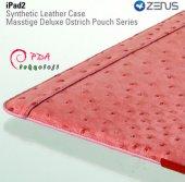 Apple iPad 3 ZENUS Marka Çekmeli Deri Kılıf - Pembe Renk-3