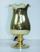 Cam Dekoratif Kıvrımlı Altın Renk Çiçeklik 27 cm