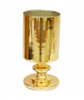 Cam Dekoratif Altın Renk Vazo (24x12)cm