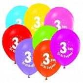 100 adet Kikajoy 3 Yaş Baskılı Pastel Balon